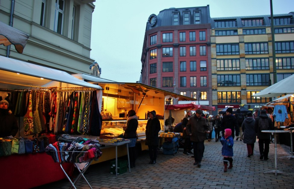 Outdoor Market at Hackescher Market in Berlin, Germany
