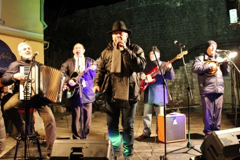 Band performs at Winte Karneval in Kotor, Montenegro