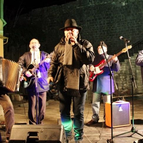 Band performs at Winte Karneval in Kotor, Montenegro