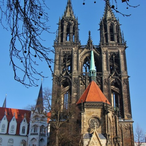 Gothic Cathedral at Albrechtsburg Castle in Meissen near Dresden, Germany