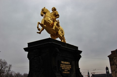Augustus II the Strong statue Golden Rider in Dresden, Germany