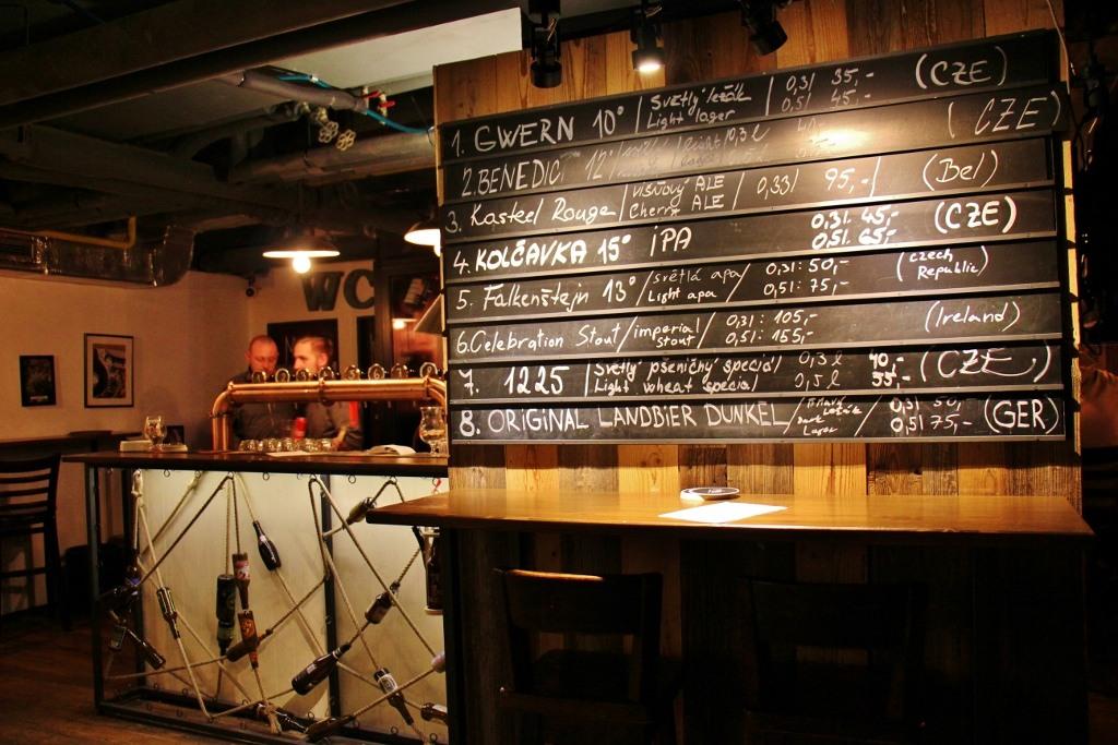 Basement bar at Pipa Beer Story, Prague, Czech Republic