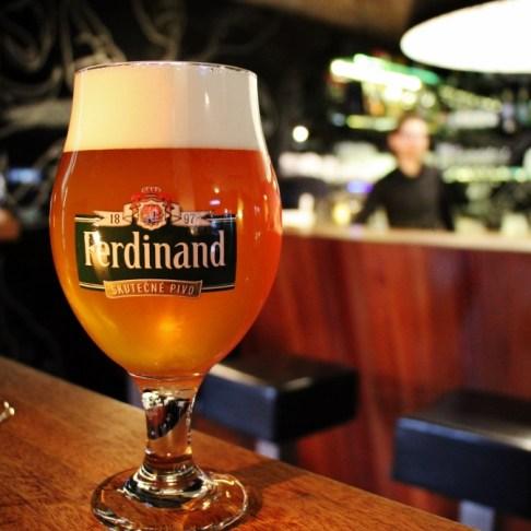 Ferdinand beer at U Kunstatu Craft Beer Club, Prague, Czech Republic