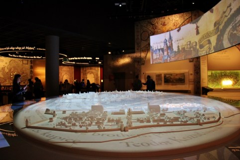 Interactive exhibit at the POLIN Museum in Warsaw, Poland