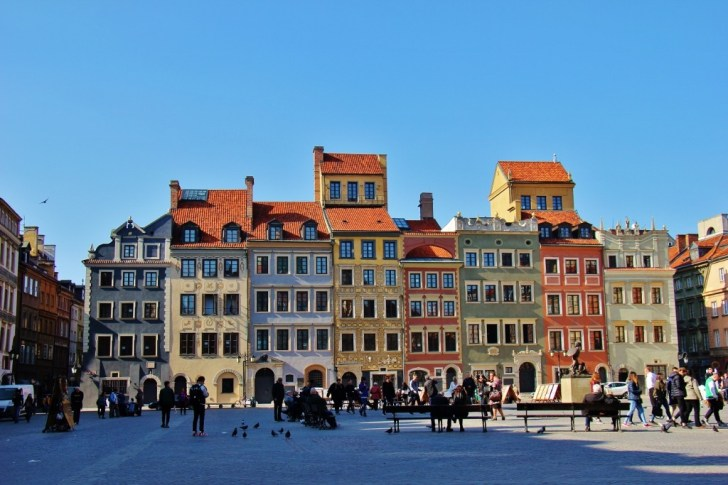 Historic Market Square in Warsaw, Poland