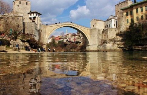 Old Bridge and Old Town in Mostar, Bosnia-Herzegovina