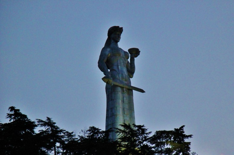 Iconic Mother of Georgia statue, Tbilisi, Georgia
