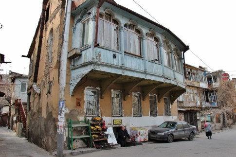 Typical Old Town building, Tbilisi, Georgia