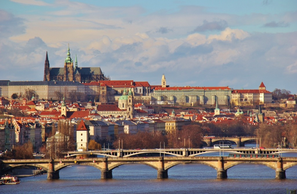 Prague City View from Vysehrad Castle, Prague, Czech Republic, JetSettingFools.com