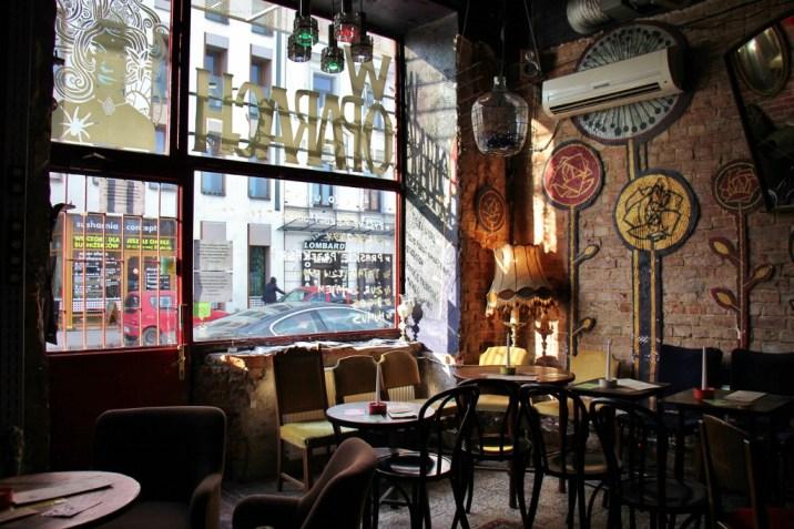 Trendy bar W Oparach Absurdu in Praga neighborhood in Warsaw, Poland