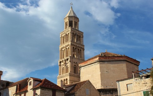 Church bell tower in Split, Croatia