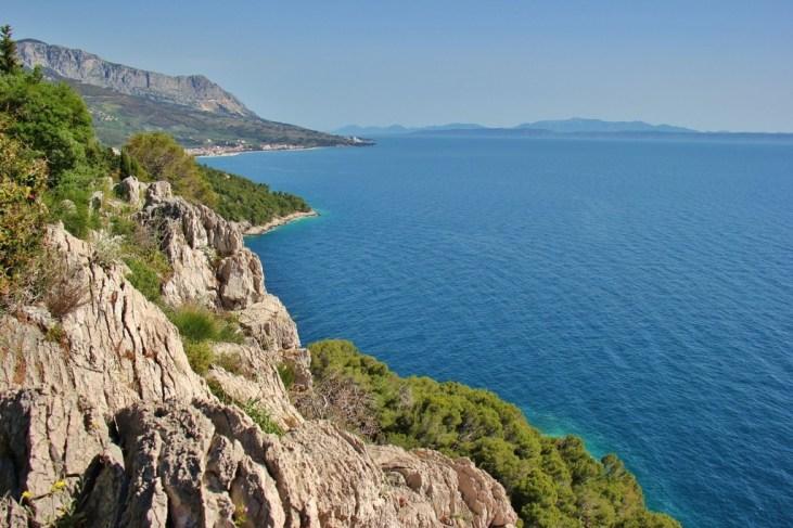 Coastline view from Osejava Peninsula, Makarska, Croatia