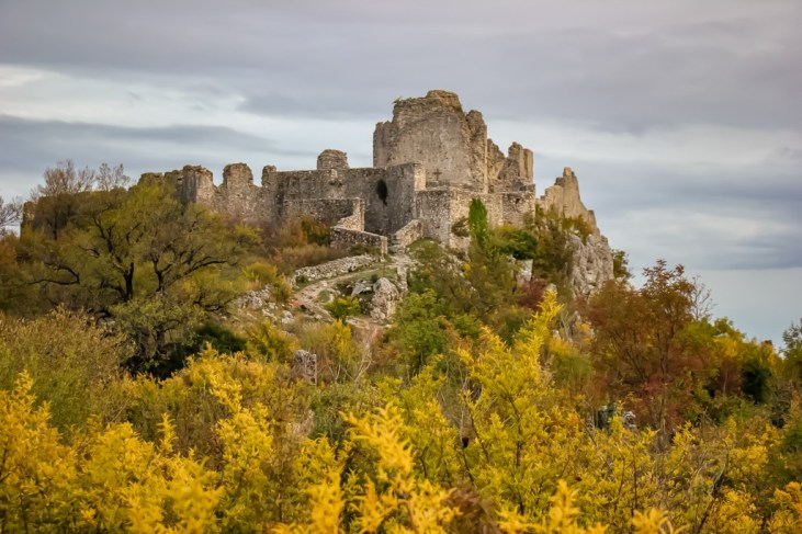 The remains of Fortress of Herzog Stjepan near Mostar, Bosnia and Herzegovina