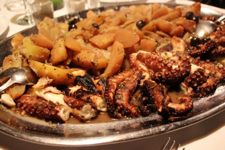 Platter of Octopus Peka at Konoba Kod Joze in Split, Croatia