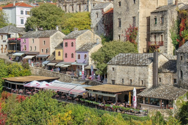 Old Town shops in Mostar, Bosnia and Herzegovina