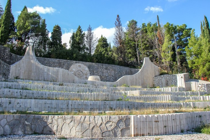 The Partisan Memorial Cemetery in Mostar, Bosnia and Herzegovina