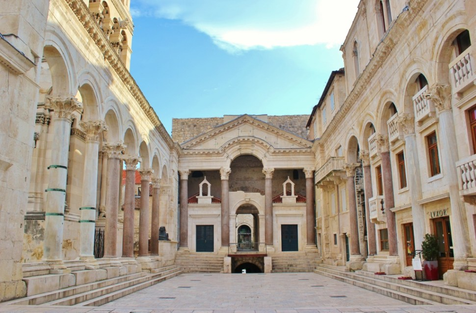 The main square, Peristyle, in Diocletian's Palace in Split, Croatia