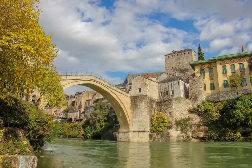 The Stari Most Bridge in Mostar, Bosnia and Herzegovina