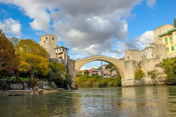 The famous Stari Most Old Bridge in Mostar, Bosnia and Herzegovina