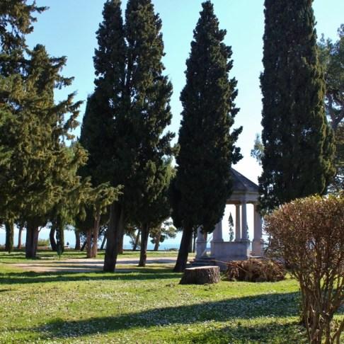 Gazebo in Sustipan Park in Split, Croatia