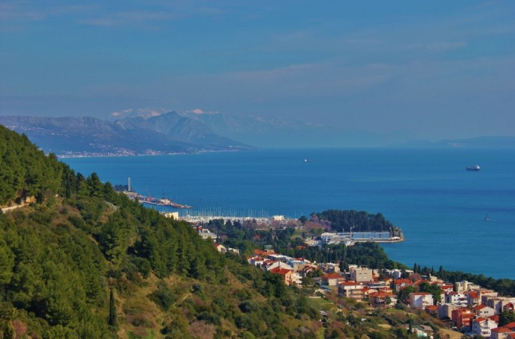 Views while hiking Marjan Hill in Split, Croatia