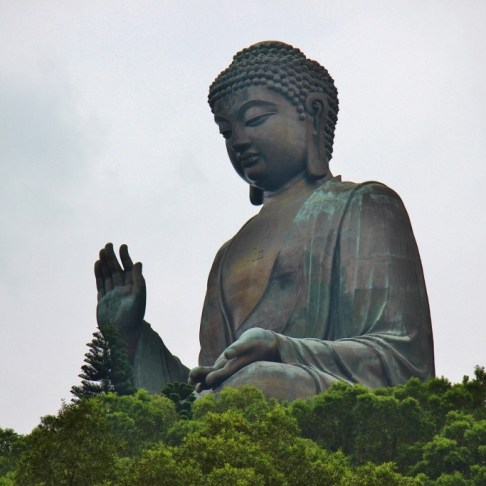 Big Buddha statue on Lantau Island, Hong Kong