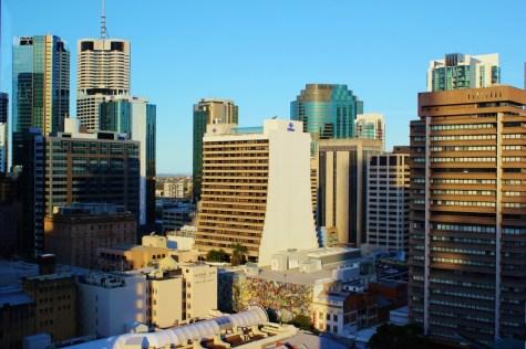 CBD View from Clock Tower in Brisbane, Australia