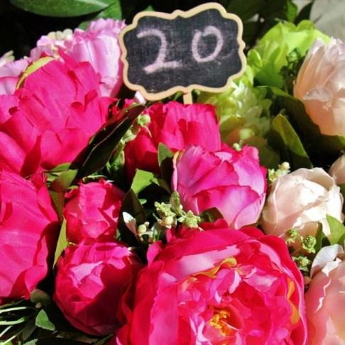 Blooming flowers for sale at Powerhouse Farmers Market in Brisbane, Australia