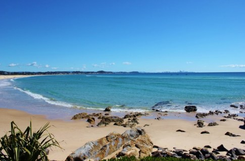 Beach on Gold Coast, Australia