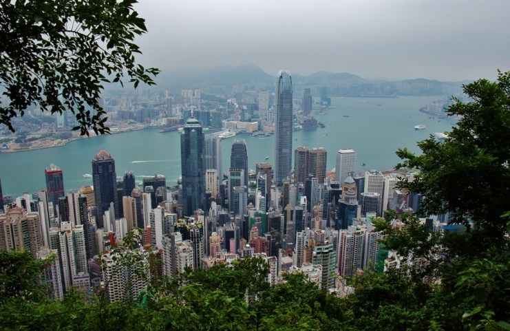 A view of Hong Kong Island from The Peak