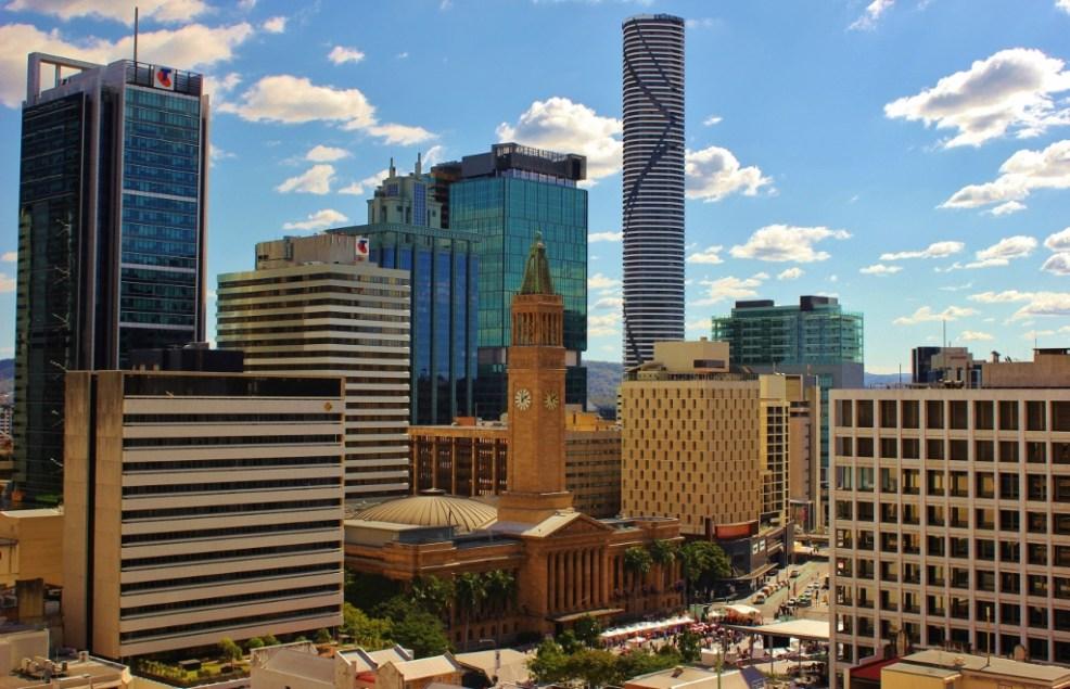 King Geroge's Square and Clock Tower in Brisbane, Australia