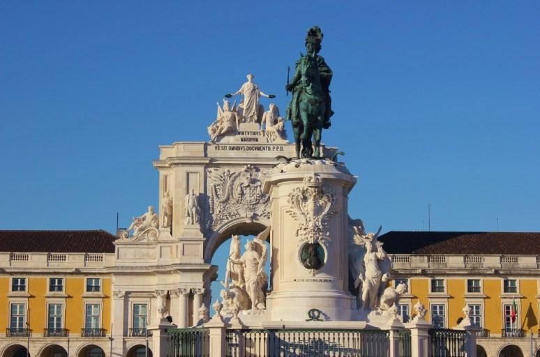 Praco do Comercio in Lisbon, Portugal