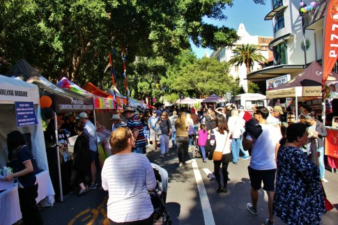 Booths at Teneriffe Festival in Brisbane, Australia