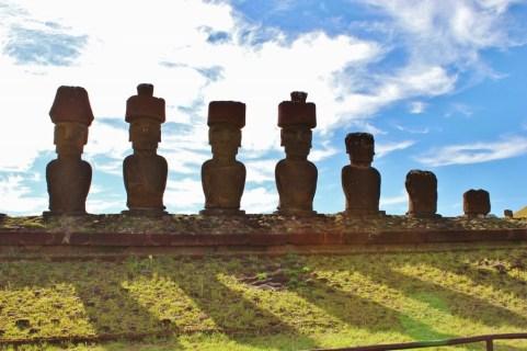 Moai at Aakena Beach on Easter Island, JetSettingFools.com