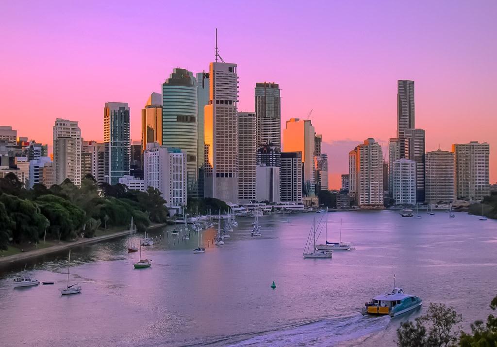 Sunset at Brisbane, Australia