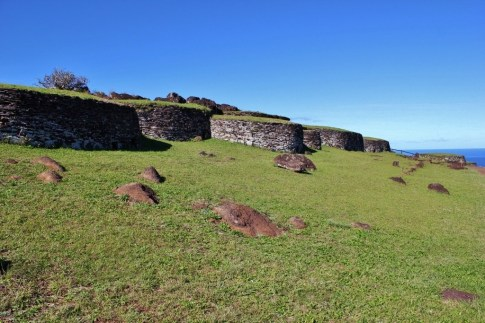 Ancient stone huts at Orongo on Easter Island, JetSettingFools.com
