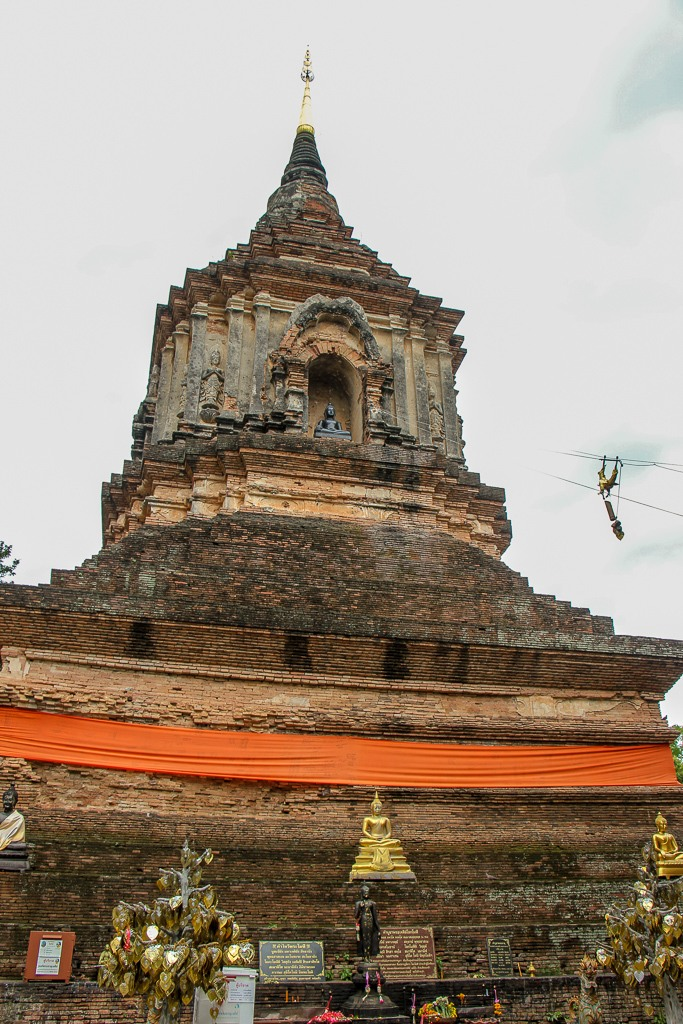 Historic chedi at Lok Moli Temple in Chiang Mai, Thailand