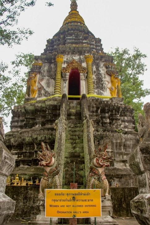 Ancient chedi at Wat Muen San in Chiang Mai, Thailand