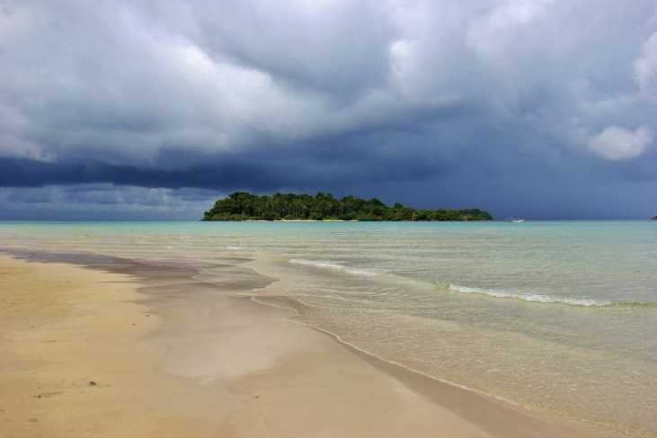 Storms brewing over Kai Bae Beach on Koh Chang, Thailand