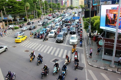Congested traffic in Bangkok, Thailand