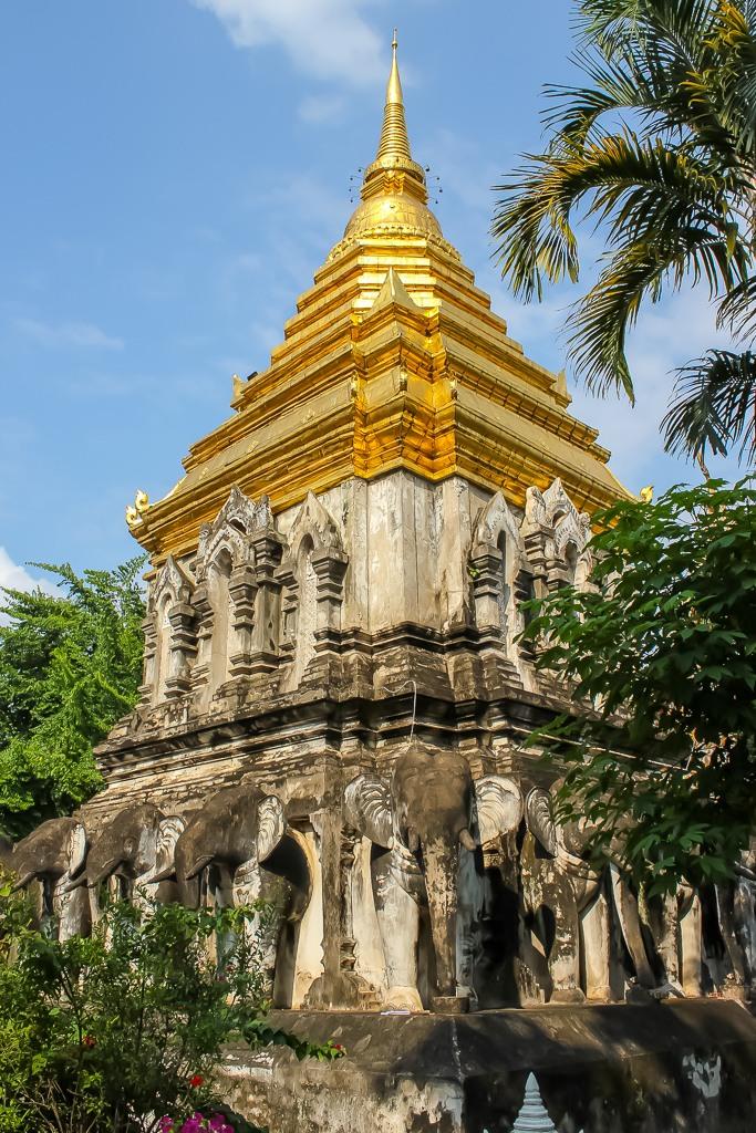 Stupa at Wat Chiang Man in Chiang Mai, Thailand