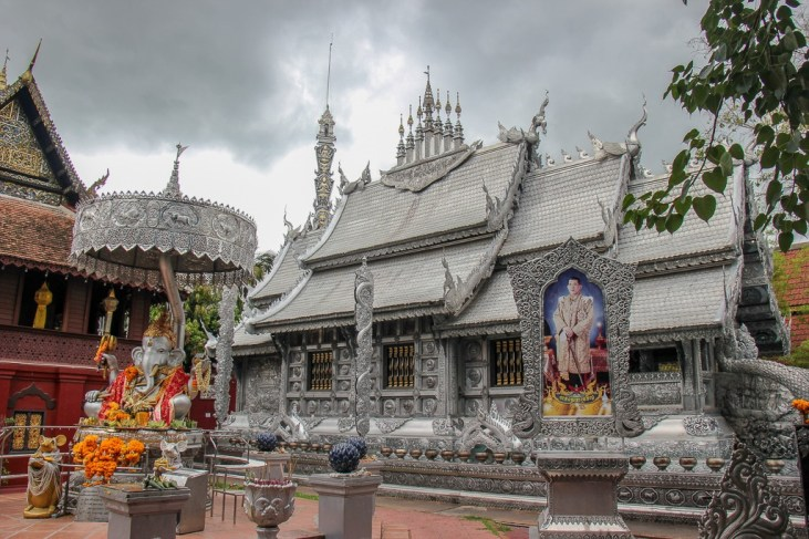Famous Silver Temple in Chiang Mai, Thailand