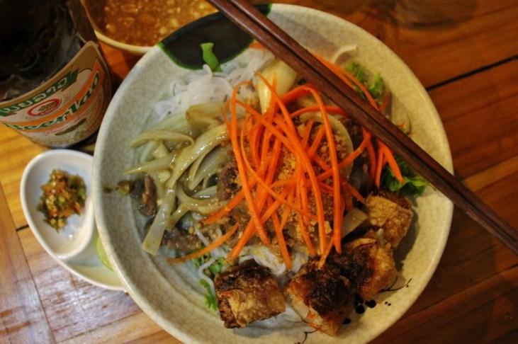Bun Bo rom Phonheuang Cafe in Luang Prabang, Laos