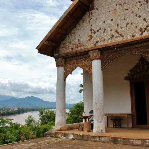 View of city from Chomphet Temple in Luang Prabang, Laos
