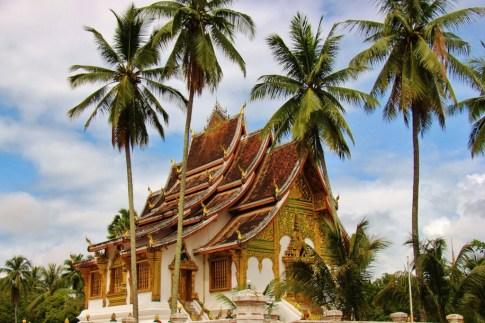Haw Pha Bang Temple at Royal Palace in Luang Prabang, Laos
