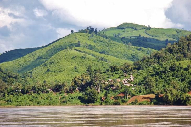 Mekong River Village in Laos