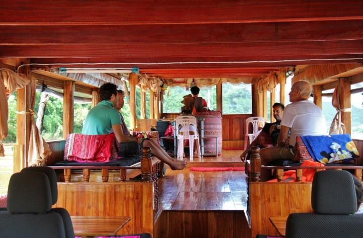 Laos Slow Boat interior