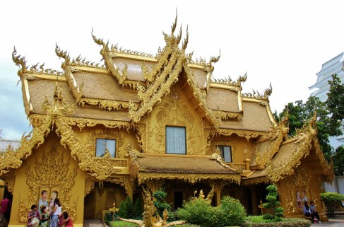 The Golden Building at The White Temple in Chiang Rai, Thailand
