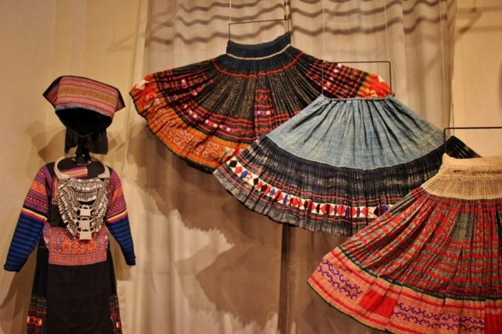 Handmade traditional skirts at TAEC, Luang Prabang, Laos