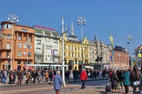 Main Square, Ban Jelacic, in Zagreb, Croatia